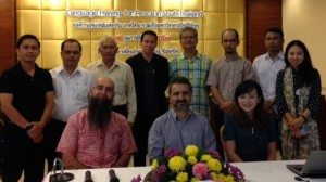 Joe Lo Bianco (front, center) with participants at the South Thailand 'dialogue' on language planning for peace